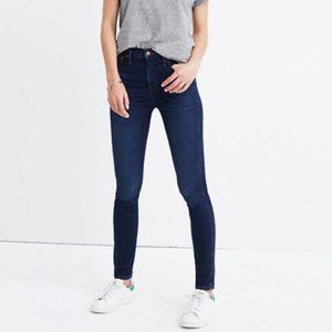 "NWT Madewell 10"" High-Rise Skinny Blue Jeans | 25"